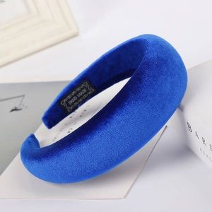 Blue Velvet Thick Foam Headband